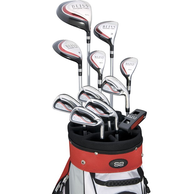 New Ladies Square Two Golf Clubs Bliss Ruby 2012 Complete