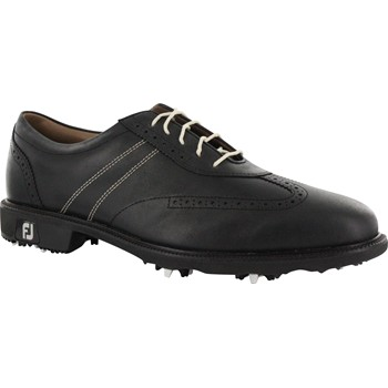 FootJoy Icon 10 Extra Wide Black Contrast Stitch Black Smooth Golf