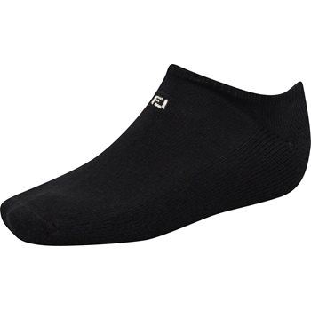 FootJoy ComfortSof Low-Cut Black Socks No Show Apparel