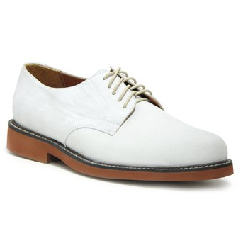 David Spencer White Buck Oxford Casual