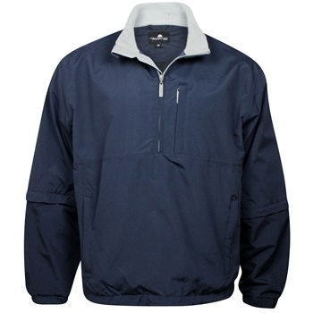 Weather Company Microfiber Waterproof 1/2 Zip Rainwear Rain Jacket Apparel