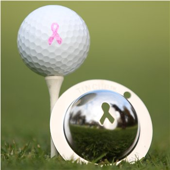Tin Cup Breast Cancer Awareness Ball Marker Accessories