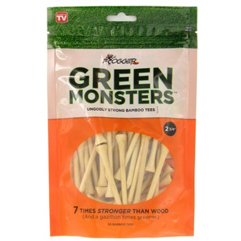 "Frogger Green Monsters 2 3/4"" Golf Tees Accessories"