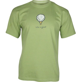 "Life is Good Crusher Tee ""Golf Ball on Tee"" Shirt T-Shirt Apparel"