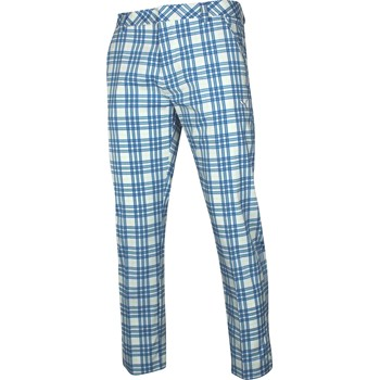 Puma Golf Plaid Tech Pants Flat Front Apparel