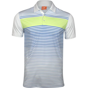 Puma Engineered Stripe Tech Shirt Polo Short Sleeve Apparel