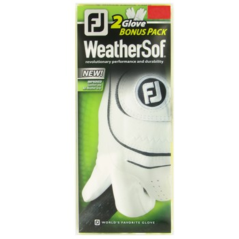 FootJoy WeatherSof 2012-2 Pack Golf Glove Gloves