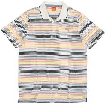 Puma Golf Jacquard Stripe Shirt Polo Short Sleeve Apparel