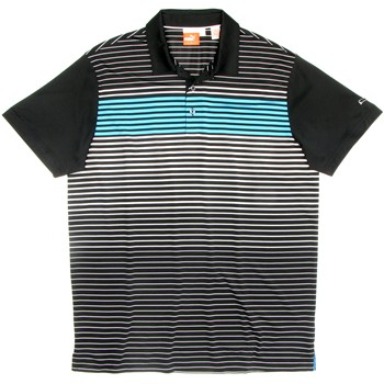 Puma Golf Engineered Stripe Tech Shirt Polo Short Sleeve Apparel