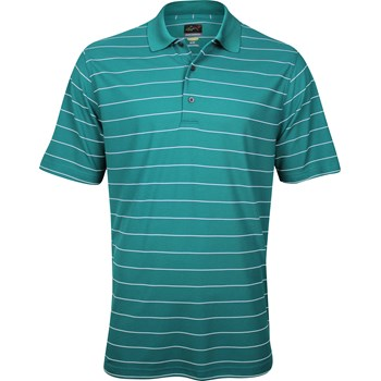 Greg Norman ProTek Micro Pique Stripe Shirt Polo Short Sleeve Apparel