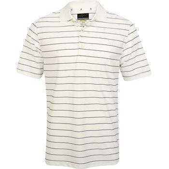 Greg Norman ProTek Micro Pique Stripe Shirt Polo Short Sleeve Apparel