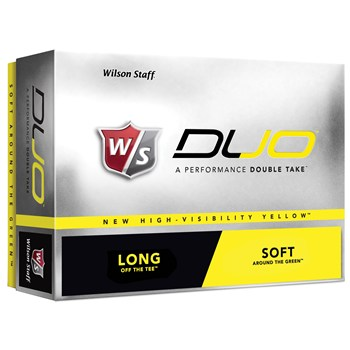 Wilson Staff Duo Yellow Golf Ball Balls