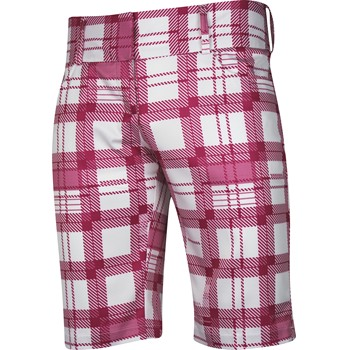 Adidas ClimaLite Broken Plaid Bermuda Shorts Flat Front Apparel