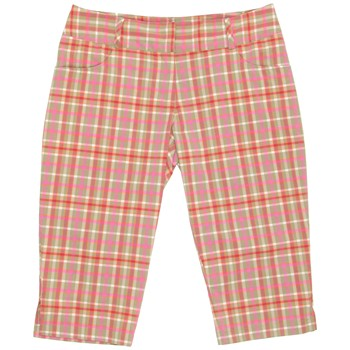 Adidas ClimaLite Plaid Pedal Pusher Shorts Flat Front Apparel