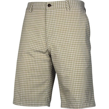 Adidas ClimaLite Neutral Plaid Shorts Flat Front Apparel