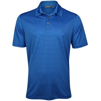 Ashworth EZ-TEC2 Performance Pencil Stripe Shirt Polo Short Sleeve Apparel