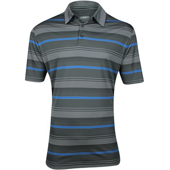 Ashworth EZ-TEC2 Performance Interlock Ombre Stripe Shirt Polo Short Sleeve Apparel