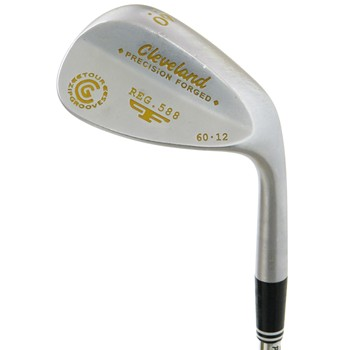 Cleveland 588 Forged Satin Gold Paint Fill Wedge Preowned Golf Club