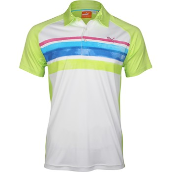 Puma Golf Watercolor Stripe Shirt Polo Short Sleeve Apparel