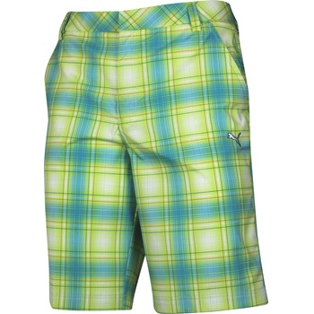 Puma Ombre Plaid Tech Shorts Flat Front Apparel