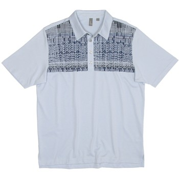 Ashworth Front Panel Engineer Print Shirt Polo Short Sleeve Apparel