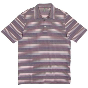Ashworth Birdseye Stripe Shirt Polo Short Sleeve Apparel