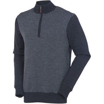 SunIce York 1/4 Zip Windstopper Houndstooth Sweater Outerwear Pullover Apparel