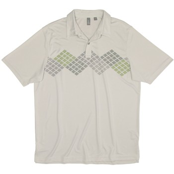 Ashworth EZ-TEC2 Performance Front Panel Engineer Print Shirt Polo Short Sleeve Apparel