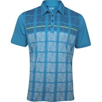 Adidas ClimaCool Window Pane Printed Shirt Polo Short Sleeve Apparel