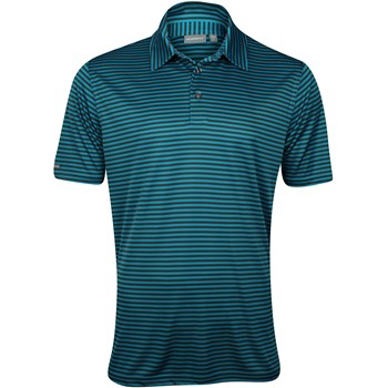 Ashworth EZ-TEC2 Performance Interlock Pencil Stripe Shirt Polo Short Sleeve Apparel
