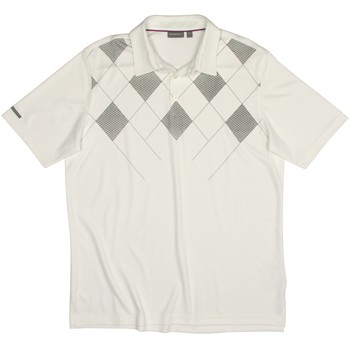 Ashworth EZ-TEC2 Performance Double Knit Argyle Print Shirt Polo Short Sleeve Apparel