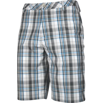 Ashworth Madras Plaid Flat Front Shorts Flat Front Apparel