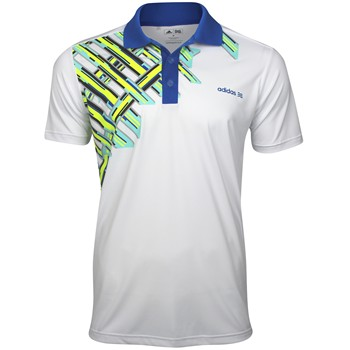 Adidas ClimaLite FP Digital Plaid Shirt Polo Short Sleeve Apparel