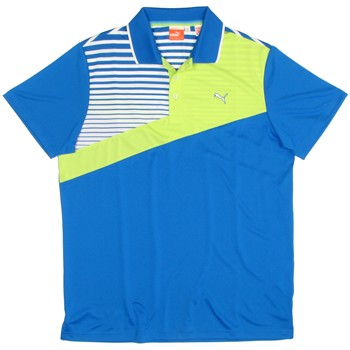 Puma Golf Colorblock Stripe Tech Shirt Polo Short Sleeve Apparel