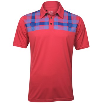 Adidas ClimaCool Chest Plaid Shirt Polo Short Sleeve Apparel