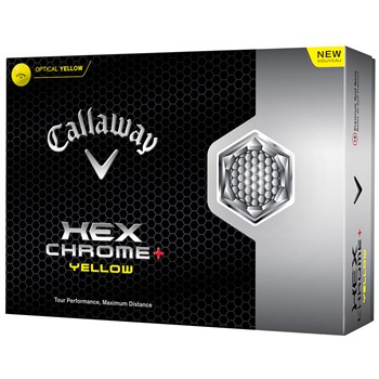 Callaway HEX Chrome+ Yellow Golf Ball Balls