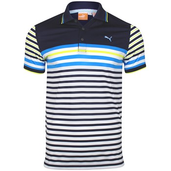 Puma Tech Stripe Shirt Polo Short Sleeve Apparel
