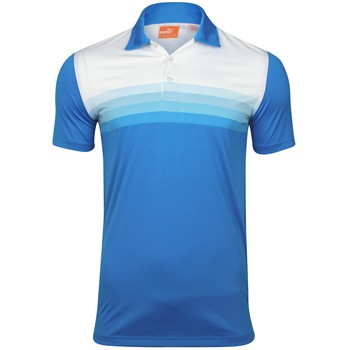 Puma Yarn Dye Stripe Tech Shirt Polo Short Sleeve Apparel