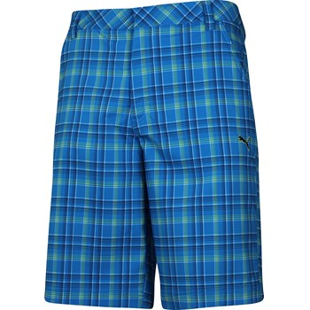 Puma Tech Plaid Shorts Flat Front Apparel