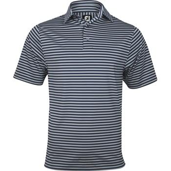 FootJoy Gulf Coast Stretch Lisle Self Stripe Shirt Polo Short Sleeve Apparel