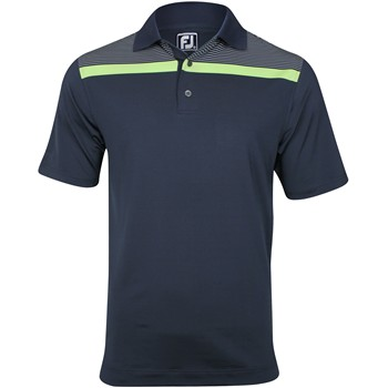 FootJoy Gulf Coast Stretch Lisle Chest Stripe Shirt Polo Short Sleeve Apparel
