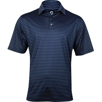 FootJoy Gulf Coast Prodry Performance Lisle Pencil Stripe Shirt Polo Short Sleeve Apparel