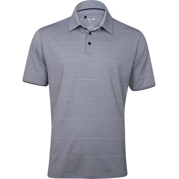Adidas ClimaLite Heathered Thin Stripe Shirt Polo Short Sleeve Apparel