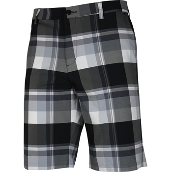 Adidas ClimaLite Open Plaid Shorts Flat Front Apparel