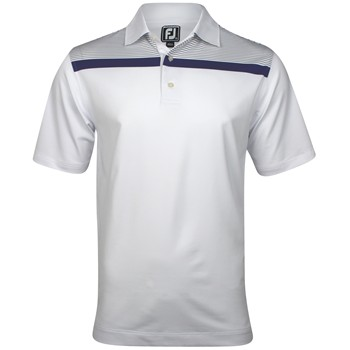 FootJoy Carmel Stretch Lisle Chest Stripe Shirt Polo Short Sleeve Apparel