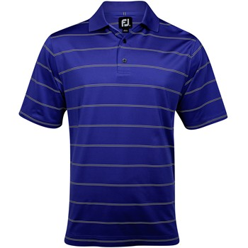 FootJoy Carmel Stretch Lisle Stripe Shirt Polo Short Sleeve Apparel