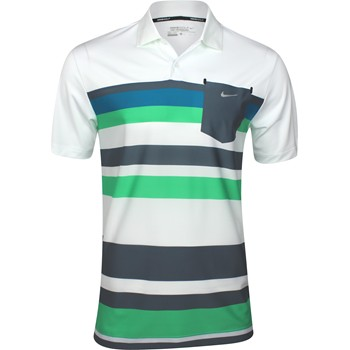 Nike Dri-Fit Fashion Stretch Stripe Shirt Polo Short Sleeve Apparel
