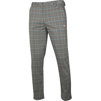 Puma Plaid Tech Style Pants Flat Front Apparel