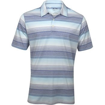 Adidas ClimaLite Heathered Ombre Stripe Shirt Polo Short Sleeve Apparel