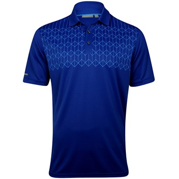 Ashworth EZ-TEC2 Performance Double Knit Chest Print Shirt Polo Short Sleeve Apparel